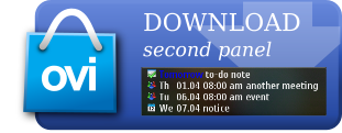 Download ComingNext from Ovi Store (second panel)